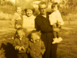 Mamaw and Papaw with grandkids