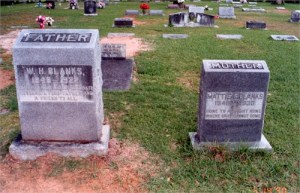 blanks wm III and mattie carpenter headstones
