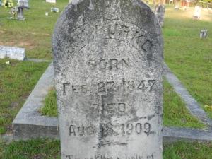 burke JP Burke Sr headstone 2