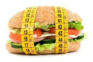 2819655-diet-sandwich-and-meter-studio-isolated