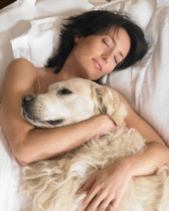 sleeping with a dog