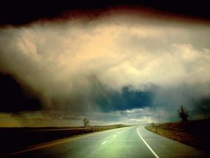 Road-Cloudy-Sky