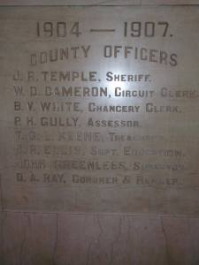 plaque in Lauderdale Co Court House in Meridian