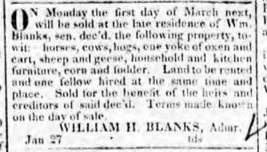 blanks william henry blanks I Georgia Journal 27 Jan 1824 pg 3