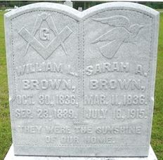 brown william L and Sarah A at goodwater cemetery