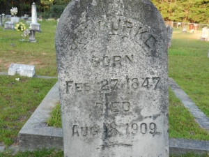 burke JP Burke Sr headstone