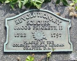 prickett Jacob Prickett II headstone