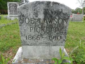 pickett, joseph lawson sr, son of rt and lucy