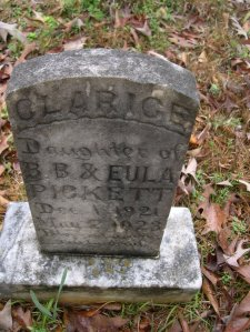 pickett fleta clarise headstone