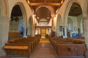 all saints church hollingbourne kent inside