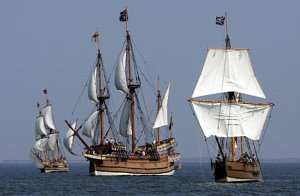 susan constant, discovery, goodspeed replicas on the chesapeake