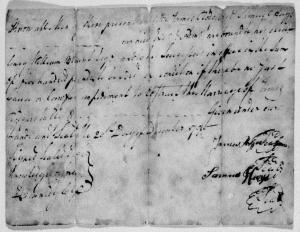 Marriage document James Rodgers and Elizabeth Hays GreeneCoTN1790