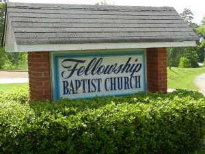 fellowship baptist church sign