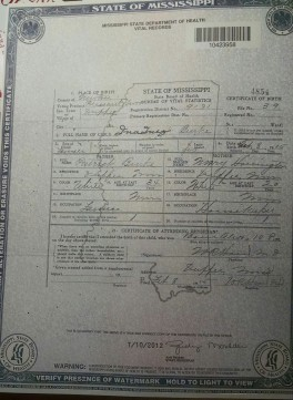 ina burke birth cert