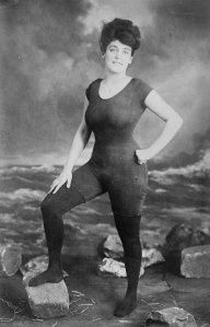 arrested for public indecency Annette Kellermann on Revere Beach Massachusetts 1907